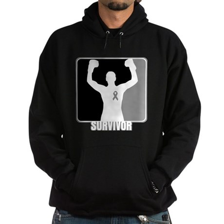 Brain Cancer Survivor Man Hoodie (dark)