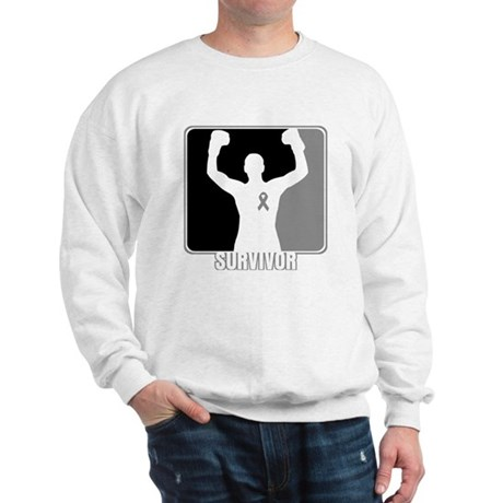Brain Cancer Survivor Man Sweatshirt