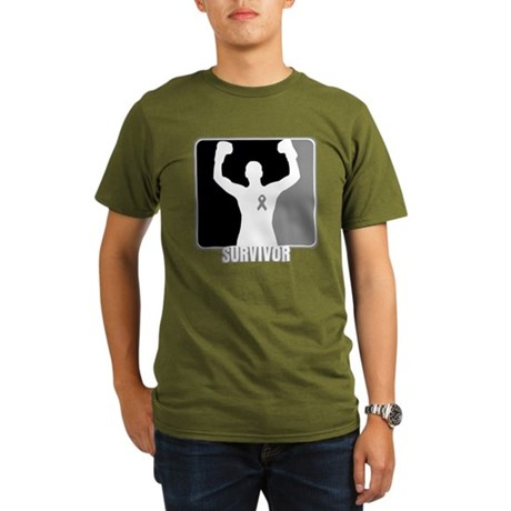 Brain Cancer Survivor Man Organic Men's T-Shirt (d