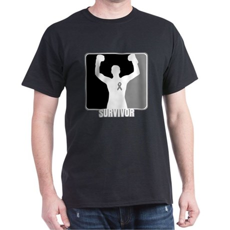 Brain Cancer Survivor Man Dark T-Shirt
