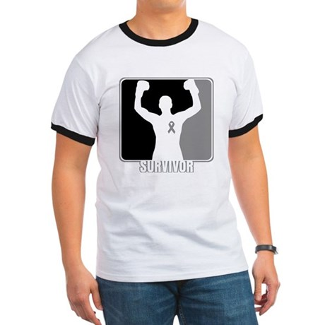 Brain Cancer Survivor Man Ringer T