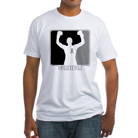 Brain Cancer Survivor Man Fitted T-Shirt