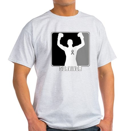 Brain Cancer Survivor Man Light T-Shirt