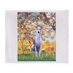 Spring / Whippet Throw Blanket