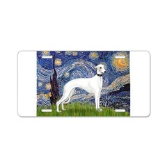 Starry Night / Whippet Aluminum License Plate