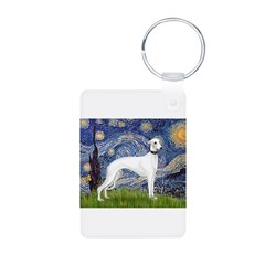 Starry Night / Whippet Aluminum Photo Keychain