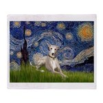 Starry Night Whippet Throw Blanket
