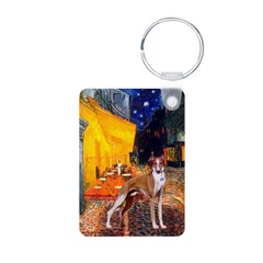 Cafe & Whippet Aluminum Photo Keychain