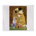 Kiss & Whippet Throw Blanket