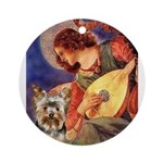 Mandolin Angel / Yorkie (17) Ornament (Round)