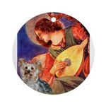 Mandolin Angel & Yorkie (T) Ornament (Round)