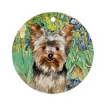 IRISES / Yorkie (17) Ornament (Round)