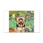 IRISES / Yorkie (17) 20x12 Wall Decal
