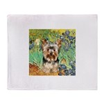 IRISES / Yorkie (17) Throw Blanket