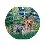 Bridge / Yorkie (T) Ornament (Round)