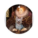 The Queen's Yorkie (T) Ornament (Round)