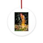 Midsummer / Yorkie Ornament (Round)