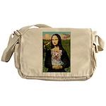 Mona & her Yorkie (T) Messenger Bag