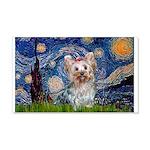 Starry Night Yorkie (T) 20x12 Wall Decal