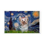 Starry Night Yorkie (T) 20x12 Wall Decal