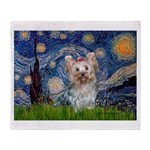 Starry Night Yorkie (T) Throw Blanket