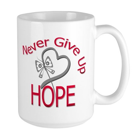 Brain Cancer Never Give Up Large Mug
