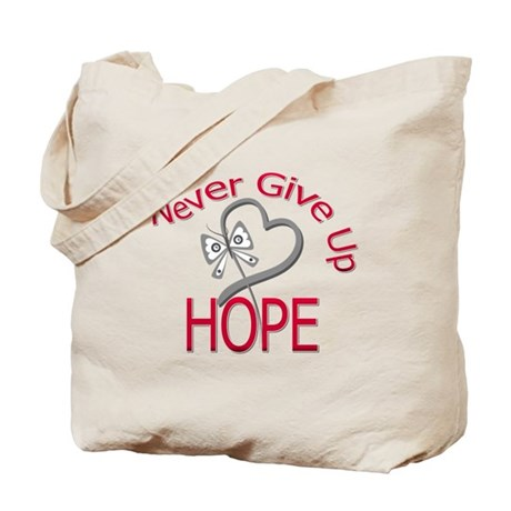 Brain Cancer Never Give Up Tote Bag