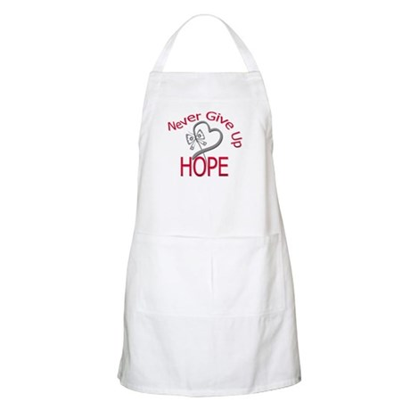 Brain Cancer Never Give Up Apron
