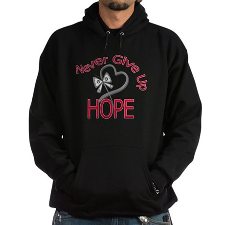 Brain Cancer Never Give Up Hoodie (dark)