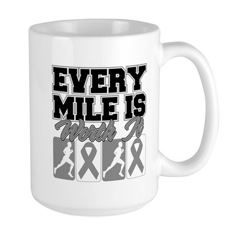 Every Mile Brain Cancer Large Mug