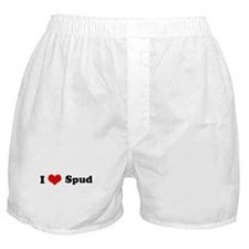 I Love Spud Boxer Shorts