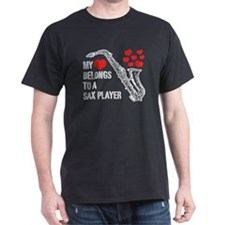 My Heart Belongs To A Sax Player T-Shirt