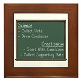 Science vs Creationism Framed Tile