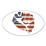 American Flag Fist Decal