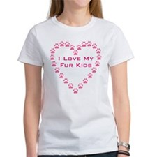 I Love My Fur Kids W/Paw Hear Tee