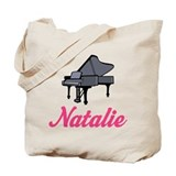 Natalie Name Piano Tote Bag