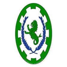 Greenlion Bay Sticker (Oval)