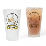 WORLDS GREATEST BAKER CARTOON Drinking Glass