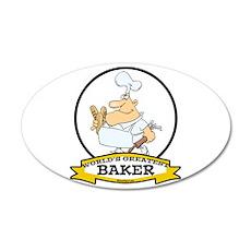 WORLDS GREATEST BAKER CARTOON 38.5 x 24.5 Oval Wal