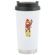 Glowing Christmas SockMonkey Ceramic Travel Mug