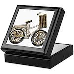 Golden Bicycle with Basket Keepsake Box