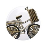 Golden Bicycle with Basket 3.5