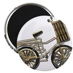 Golden Bicycle with Basket 2.25