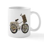 Golden Bicycle with Basket Mug