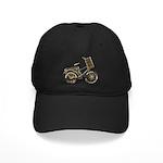 Golden Bicycle with Basket Black Cap