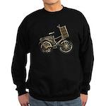 Golden Bicycle with Basket Sweatshirt (dark)