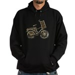 Golden Bicycle with Basket Hoodie (dark)
