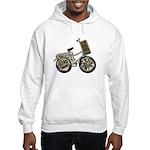 Golden Bicycle with Basket Hooded Sweatshirt