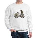 Golden Bicycle with Basket Sweatshirt
