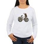 Golden Bicycle with Basket Women's Long Sleeve T-S